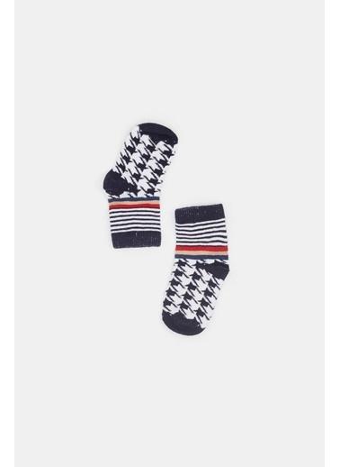 BG Baby Erkek Bebek Renkli 3Lü Çorap 20Fw0Bg1042 Renkli